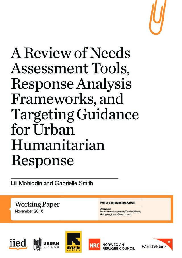 Needs Assessment Tools Response Analysis Frameworks And Targeting