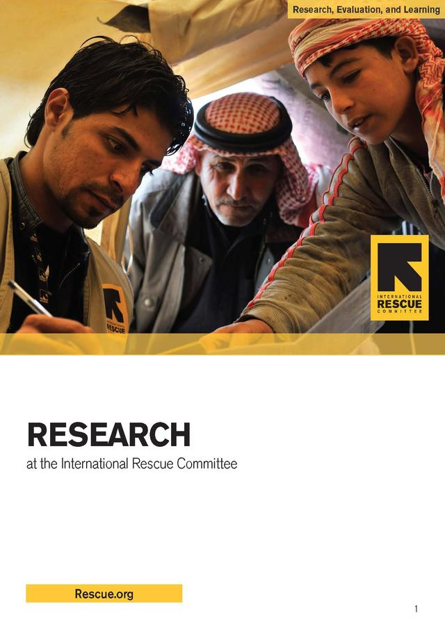 Research at the IRC   International Rescue Committee (IRC)
