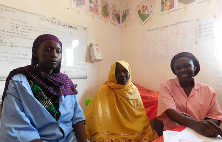 Women in a health clinic run by the IRC in Chad