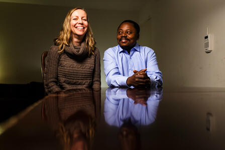 Susie Lawrence and Kazingufu Rananzani