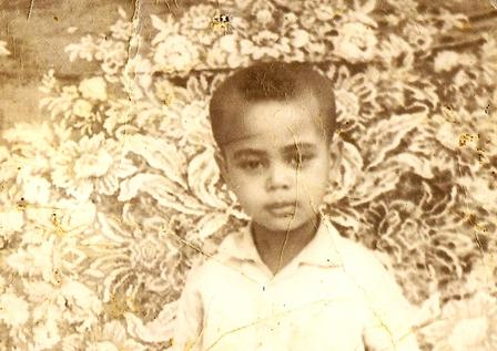Photo of Tefere Gebre at age 3