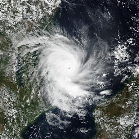 NASA satellite image of Cyclone Kenneth