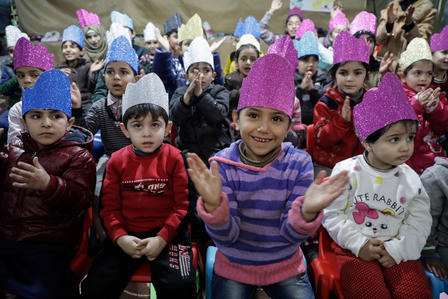Syrian children in Idlib, Syria