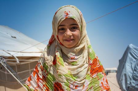 Syrian girl inside Syria