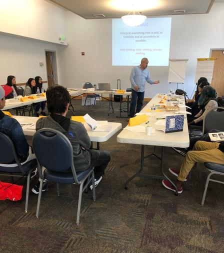 15 refugee and new American students became youth interpreters through programming developed in partnership with New Americans in Action--a class supported by the International Rescue Committee in Salt Lake City.
