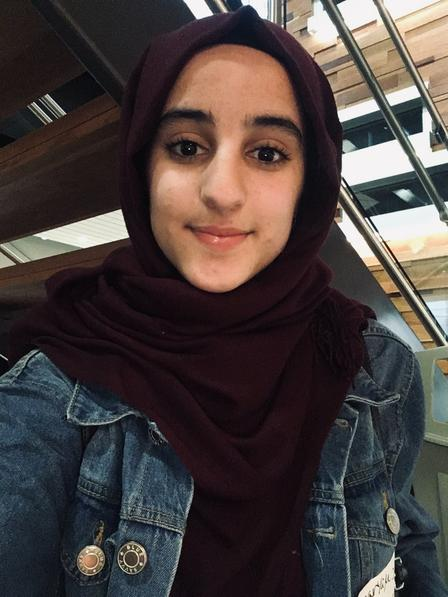 Maryam is a student participating in the New Americans in Action class, a program supported by the International Rescue Committee in Salt Lake City