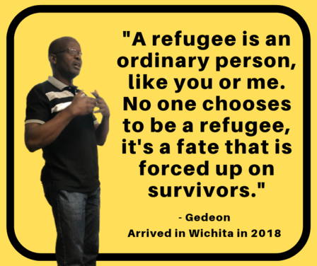 A refugee is an ordinary person, like you or me. No one chooses to be a refugee, its a fate that is forced upon survivors.