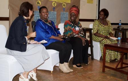 Conference attendees had the opportunity to listen to a panel discussion with the Kenyan Women's Movement.