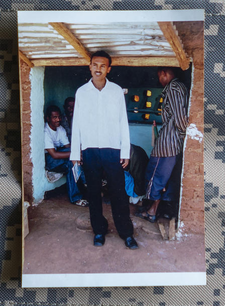 Tecle, an IRC staff member, in Shimelba refugee camp in Ethiopia