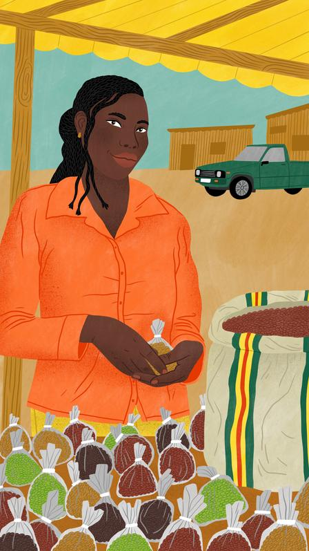 Bodil Jane illustration of IRC client, Laraba