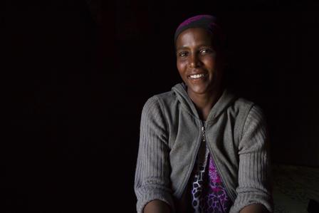 Ethiopian girl Shetye Amdu smiling