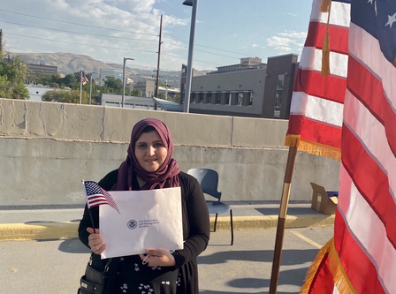 Noor shares his experience of becoming a citizen with the International Rescue Committee (IRC) in Salt Lake City