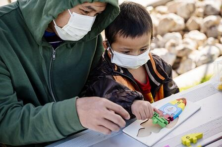 The International Rescue Committee (IRC) in Salt Lake City addressed needs of young children with The Beck Foundation to provide early childhood development kits.