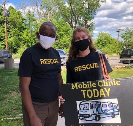 IRC staff at a mobile clinic in Baltimore.