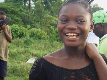 Orphaned Anita at an IRC-run children's center in the DRC