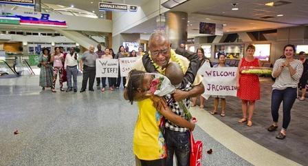 Refugee Family Reunite in Boise