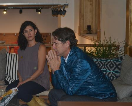 Natalie El-Deiry [left] sits with Jeff Bowden [right] discussing A Single Frame