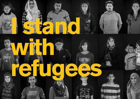 I stand with refugees