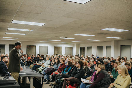A full house for IRC Atlanta's Emergency Town Hall