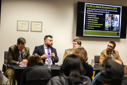 Justin Howell, Qasim Karimi, J.D. McCrary and Dr. Heval Kelli during our panel discussion