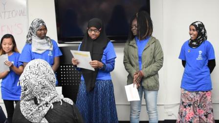 San Diego refugee girls share poems on International Women's Day