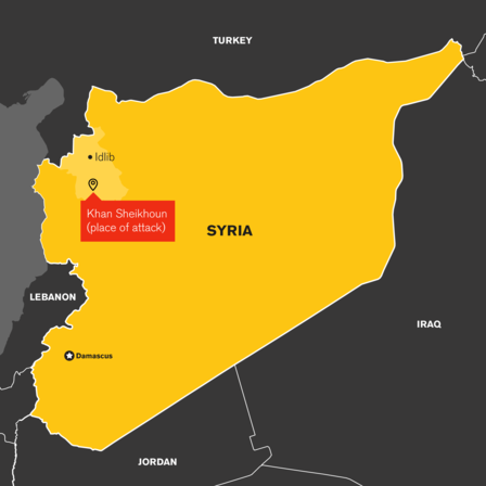 Map of Idlib, Syria