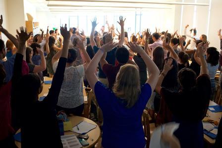 Refugee youth summer academy staff training in New York.