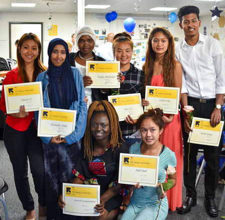 2017 Refugee Youth Scholarship Recipients