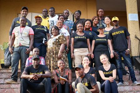GenR members with IRC staff in Sierra Leone