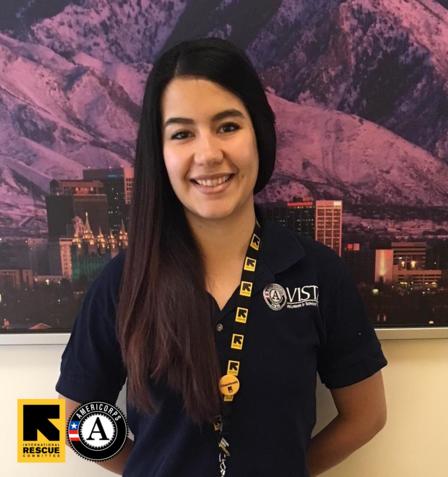 Alex Hernandez, AmeriCorps member at the IRC in Salt Lake City