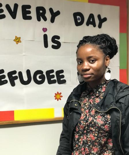 Moza is studying nursing at Georgia State University and is an integral member of the IRC in Atlanta's Youth Leadership Team.