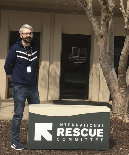 Dario Bilakovic, the newest member of the IRC in Atlanta's Immigration Team.