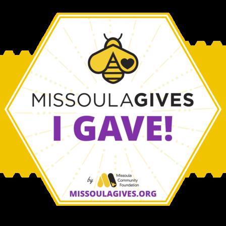 I Gave Missoula Gives logo