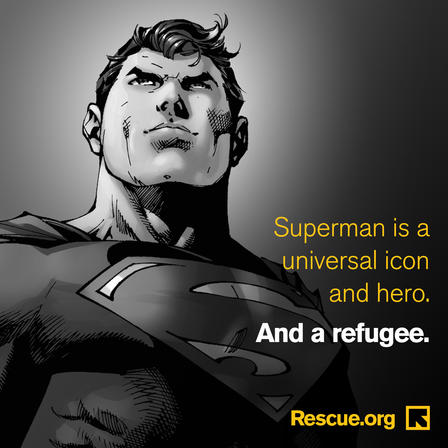 Superman was a refugee