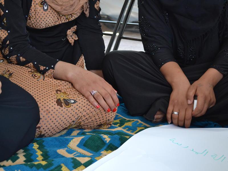 Aya at the IRC women's center in Nargazilia