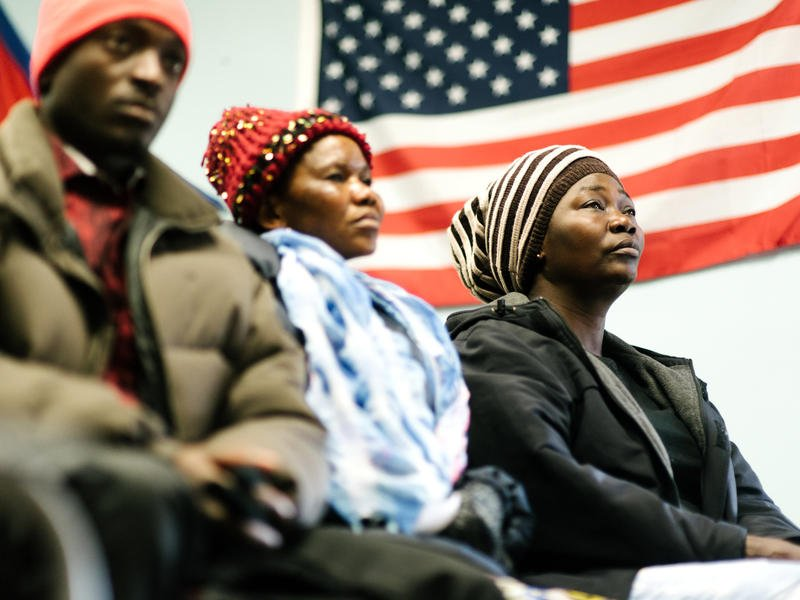 Refugee clients participate in programs inside the IRC office in Boise.