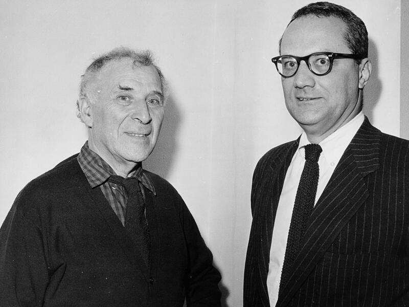 Marc Chagall and Varian Fry in an undated IRC photo