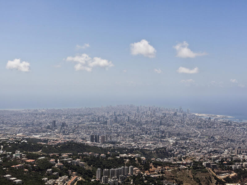 A 2016 aeriel view of the city of Beirut and its port