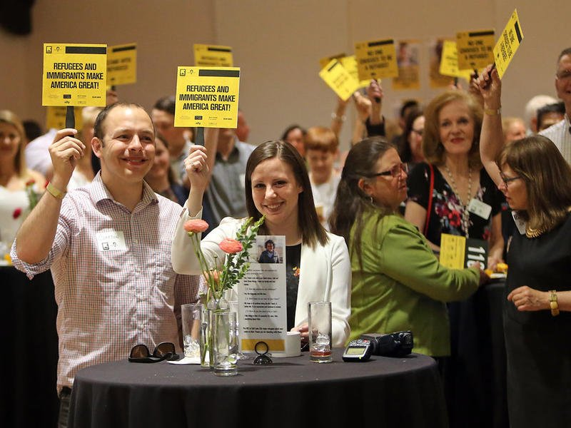 Humanitarians supporting refugees at the International Rescue Committee in Salt Lake City's Journey to the Wasatch.