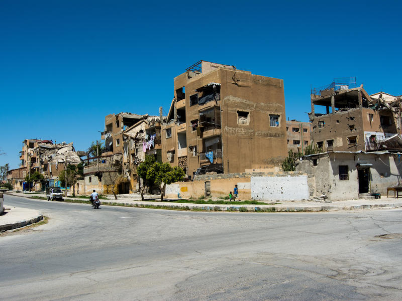 Destruction in Raqqa region, Syria