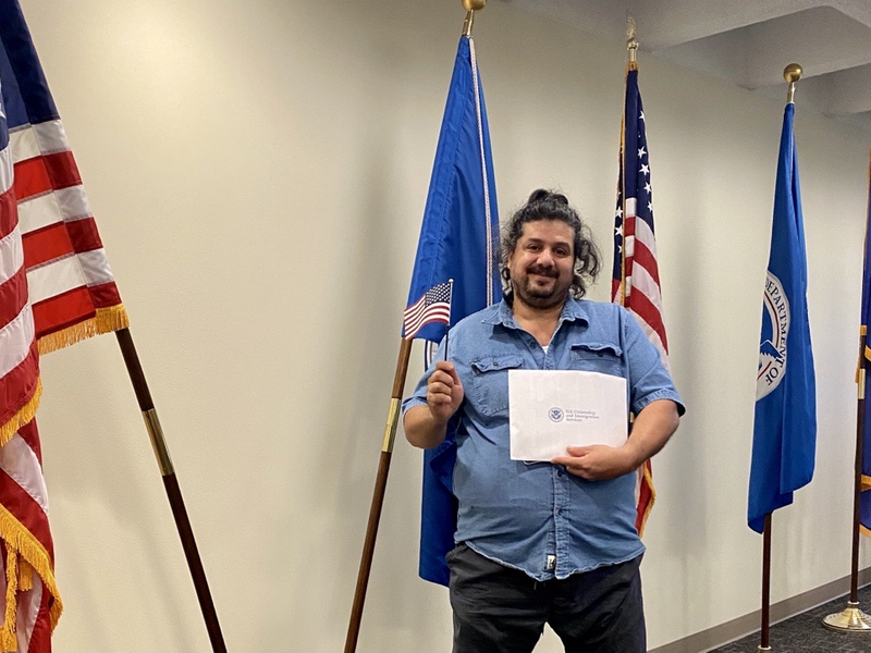 Noor share his experience of becoming a citizen with the International Rescue Committee in Salt Lake City