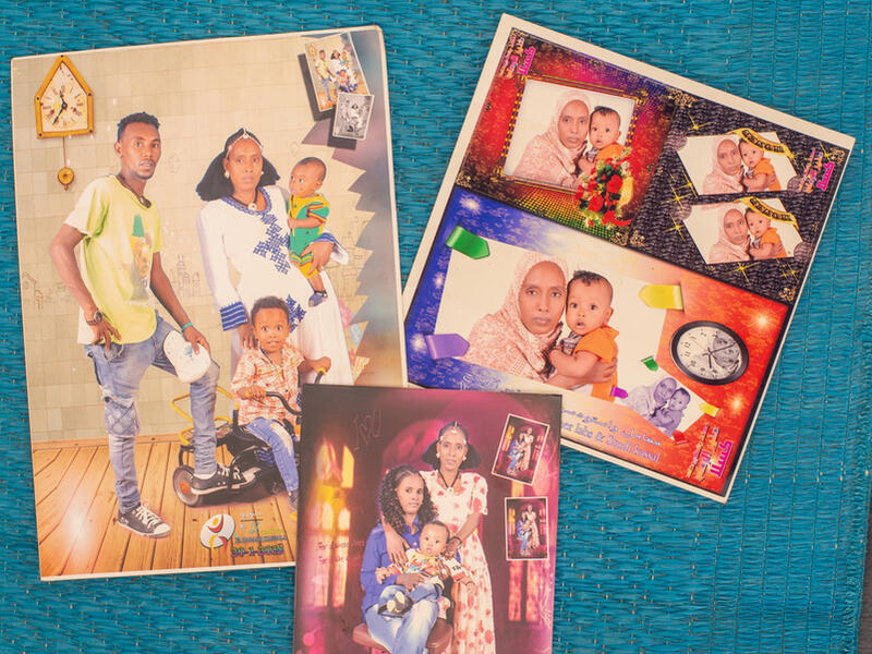 A group of photographs of Mulu and her family