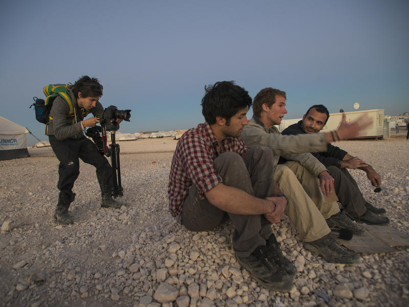 he Salam Neighbor team provides an evening wrap up of their day's activities at Zaatari camp