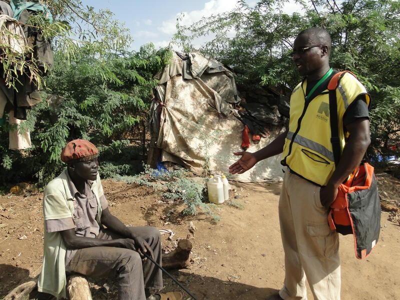 Daniel with IRC mental health officer Alex at Kakuma