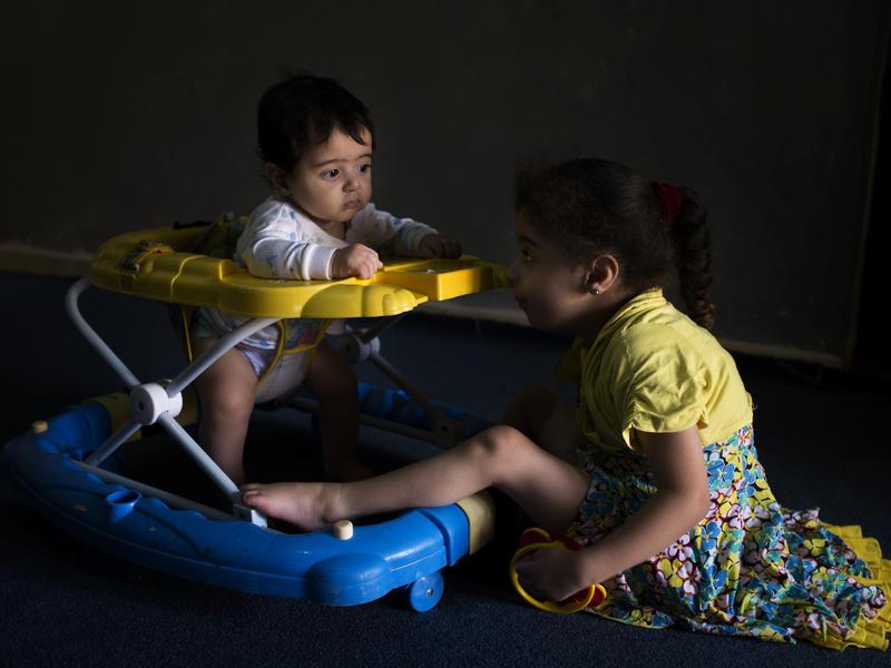 Syrian children play in Jordan