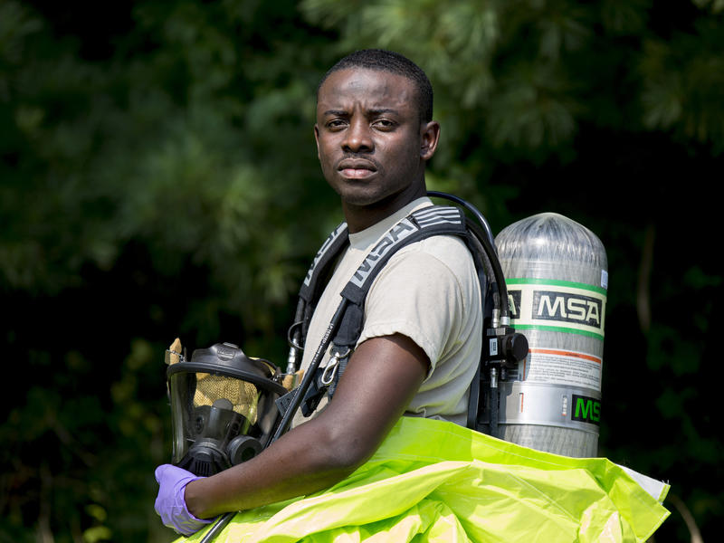 Congolese refugee works as a bio-environmental engineering technician in New Jersey