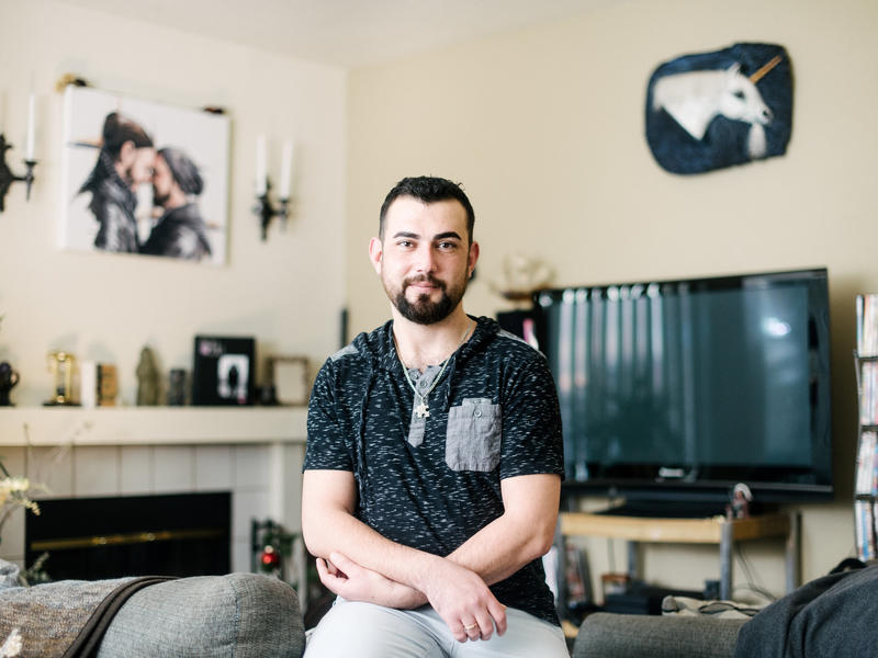 Shadi Hassan Ismail at his apartment in Boise