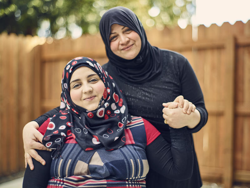 23-year-old Jaidaa with her mother Emtisal