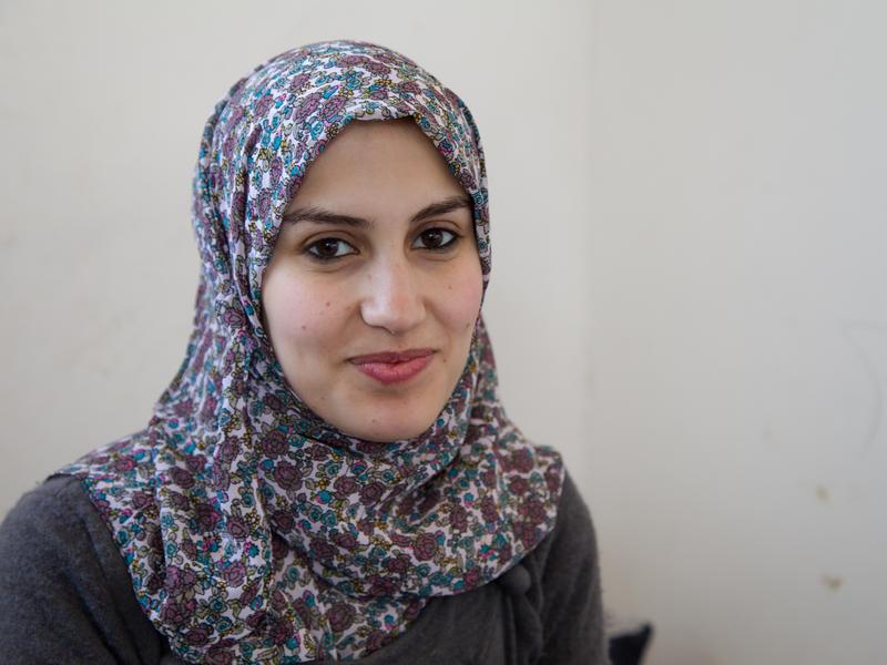 Samah from Syria at her apartment in Jordan