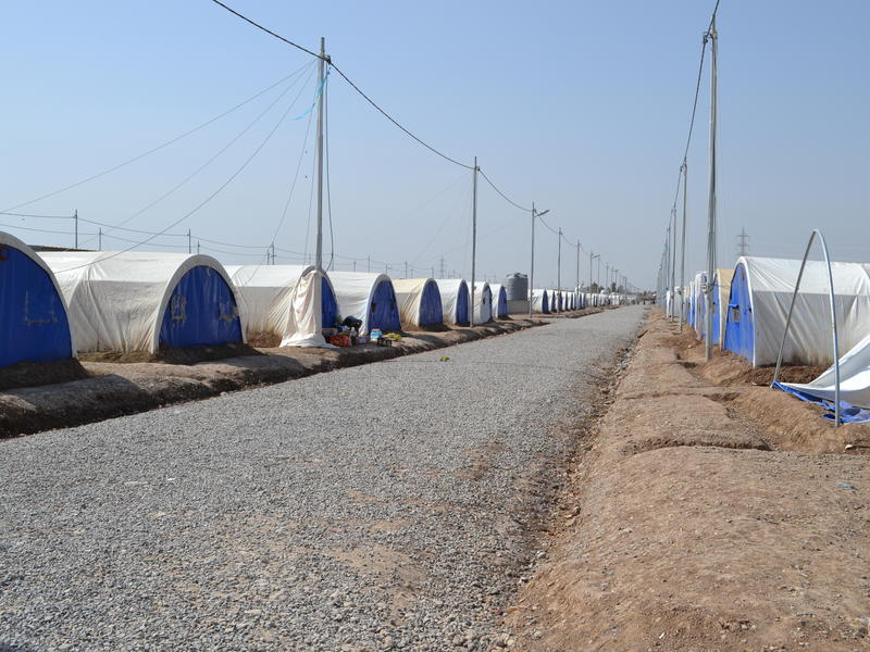 Khazer displacement camp in Iraq